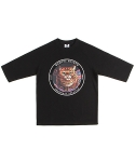 앱놀머씽 Taro Cat 5cut T-Shirt (Black)