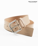 피스워커(PIECE WORKER) Italy Leather Belt-Beige