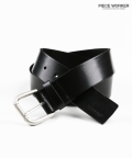 피스워커(PIECE WORKER) Italy Leather Belt-Black