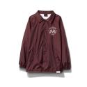 Diamond USA Coaches Jacket in Burgundy