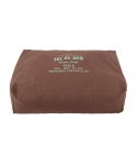 몽슈슈(MONCHOUCHOU) Classic Linen Cushion-Brown
