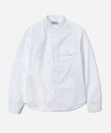 15 S/S NO COLLAR SHIRTS WHITE