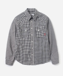15 S/S CRAZY GINGHAM SHIRTS