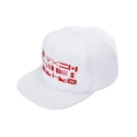 키즈아웃(KIZOUT) [KIZOUT]RED FLAG SNAP BACK WHITE