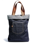 SELVEDGE WORKERS TOTE BAG (raw indigo)