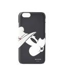 WHITE BLANK HUMMING MICKEY iPHONE 6 CASE (BLACK)
