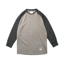 레이어 유니온(LAYER UNION) 3/4 SLEEVE RAGLAN B.C TEE CHARCOAL