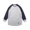 레이어 유니온(LAYER UNION) 3/4 SLEEVE RAGLAN B.C TEE NAVY