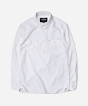 COMFY PULLOVER SHIRT _ WHITE
