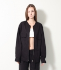 [MOHAN] POCKET OVERSIZE JACKET BLACK 모한