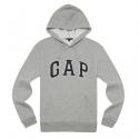갭 [국내배송] GAP [갭] Gap Men (Unisex)  Pull-Over Fleece Hoodie 남녀공용 후드티 (그레이)
