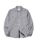 파르티멘토(PARTIMENTO) [당일출고]Check Shirt Jacket Black