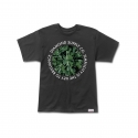 Simplicity Logo Tee in Black/Green