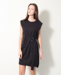 모한(MOHAN) [MOHAN] STRAP SHIRT DRESS BLACK 모한
