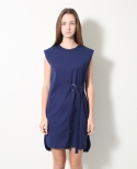 모한(MOHAN) [MOHAN] STRAP SHIRT DRESS BLUE 모한