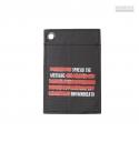 SLOGAN CARD HOLDER - BLACK(RED)