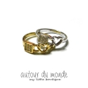 오뜨르 뒤 몽드(AUTOUR DU MONDE) LOCK HEART RING