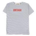 UMR 08 untage stripe half sleeve_white(남여공용)