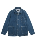 어레인지(ARRANGE) Washed Denim Chore Coat