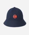 15 S/S LOGO WAPPEN BUCKET HAT - NAVY