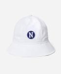 커버낫 15 S/S LOGO WAPPEN BUCKET HAT - WHITE