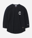 커버낫 15 S/S B.B 3/4 SLEEVE T-SHIRTS BLACK