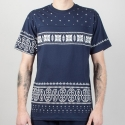 크룩스앤캐슬(CROOKS & CASTLES) Mens Knit Crew T-Shirt - Sovereign