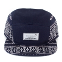 크룩스앤캐슬(CROOKS & CASTLES) Mens Woven 5 Panel Cap - Sovereign