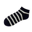 Terry Stripe Low Sock Navy