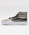 반스 [Vans] 반스 스케이트 하이 / VN-0XH7G7C / SK8-Hi Slim (Metallic Leather) bronze/black