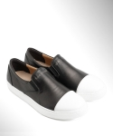 컬러콜라(COLOR COLLA) REAL LEATHER CAP TOE SLIP ON