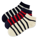 탄포포(TANPOPO) Terry Stripe Low Sock 3종 세트