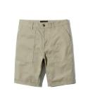 cotton fatigue shorts beige