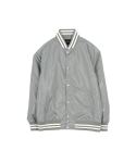 oversize stadium jacket khaki grey