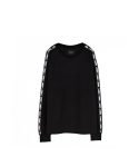 하이노크(HIGHKNOCK) logo tape crewneck shirt black