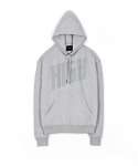 high hooded sweatshirt grey