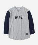 15 S/S 3/4 1924 B.B T-SHIRTS GREY/NAVY