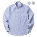 에이테일러(A-TAILOR) Stripe 1/2 standing shirts