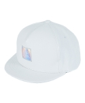 바잘() hologram lavel leather snapback white
