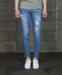 퍼블릭아이콘 [020]tapered biker denim