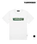 밴웍스 트로피컬 플라워 박스로고 티셔츠 (V15TS037)