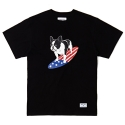 스탠다드커브 STV. SURFING BULLDOG TEE BLACK
