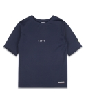 마치위드(MARCHWITH) OVERSIZED ROUND TEE NAVY