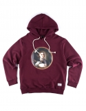 Man In A Mirror Hooded Sweat Shirt Wine