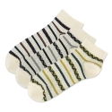 Jacquard Stripe Low Sock 3종 세트