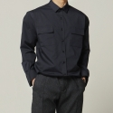 비앙쉬르(BIENSUR) STANDARDE SHIRT NAVY