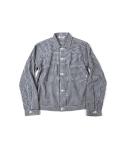 Swellmob gingham pin-tuck jacket -navy-