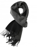 매튜앤콘라드(MATTHEW AND CONRAD) Lambs Wool Muffler Black And Charcoal
