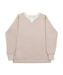 어루만질 무(MU) Over fit sweatshirt beige