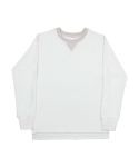 Over fit sweatshirt ivory